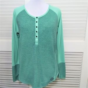 Hurley Long Sleeve Active Henley with Nike Dri-Fit